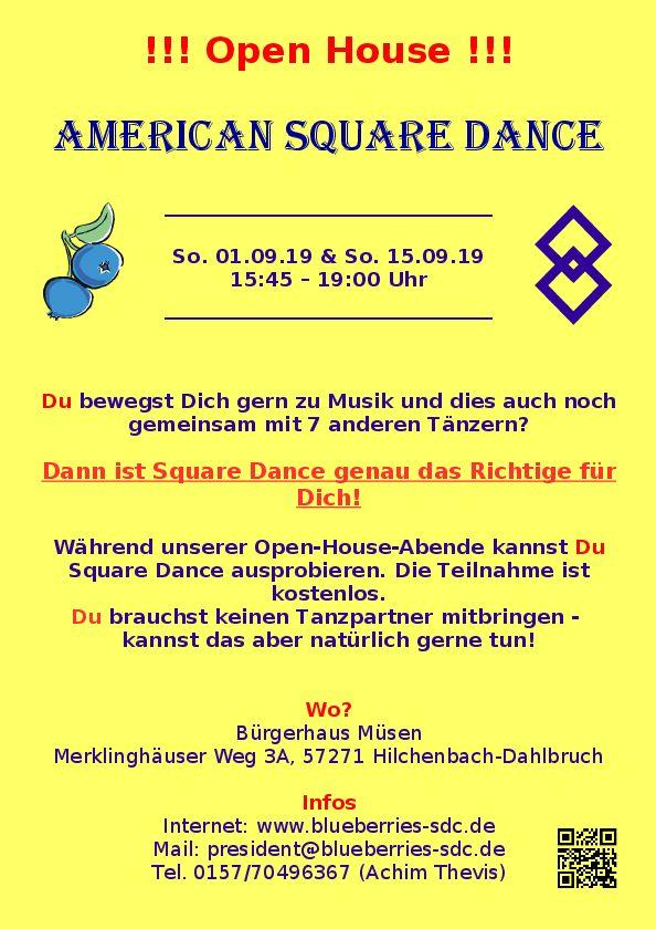 Flyer für unsere Schnupperabende am  1.9. und 15.9.2019